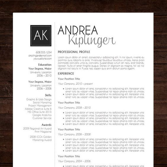 INSTANT DOWNLOAD RESUME TEMPLATE   WORD FORMAT ☆ Need A Resume Design  Makeover? The U201cAMANDA Resume Template Has A Modern And Clean Design With:
