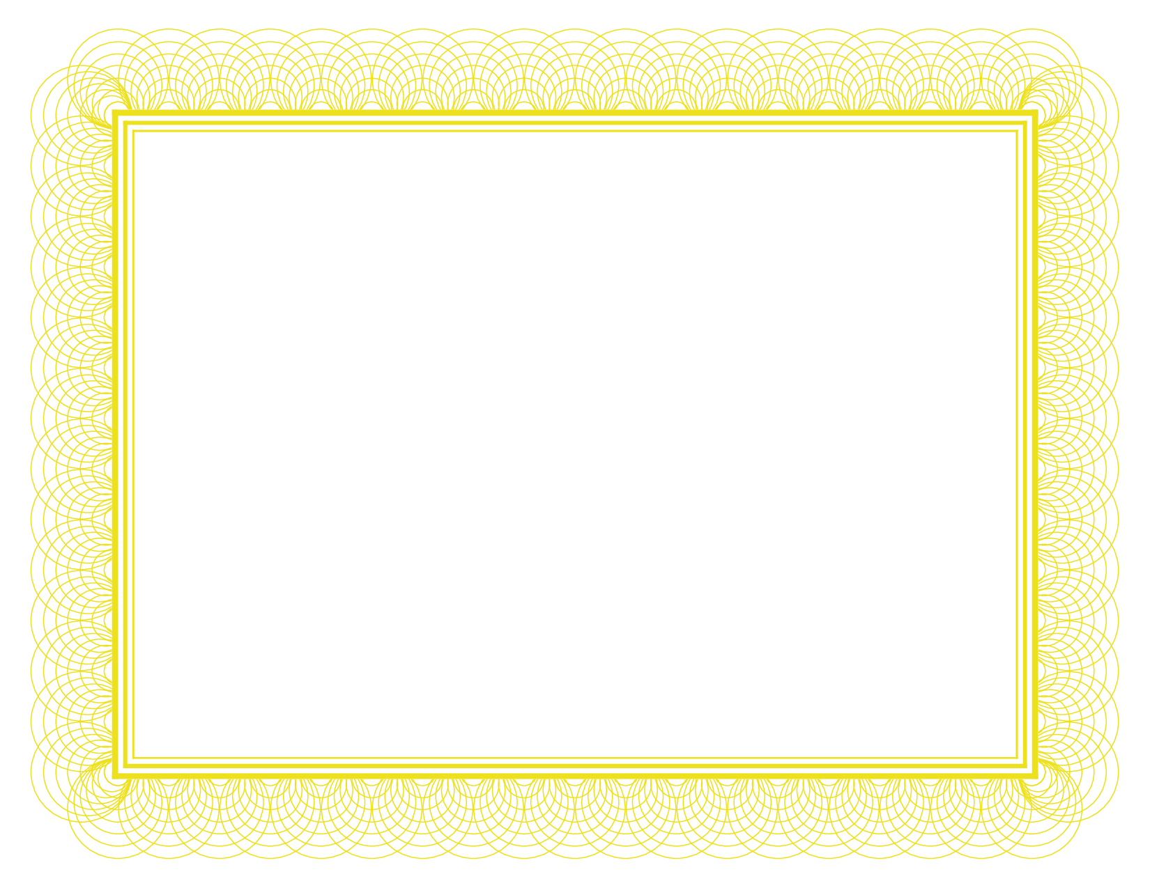 Gold Certificate Border Paper
