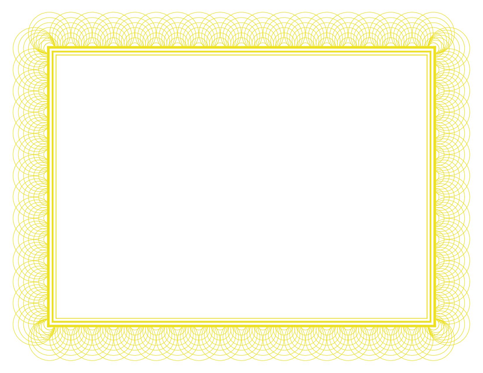 Gold Certificate Border Paper