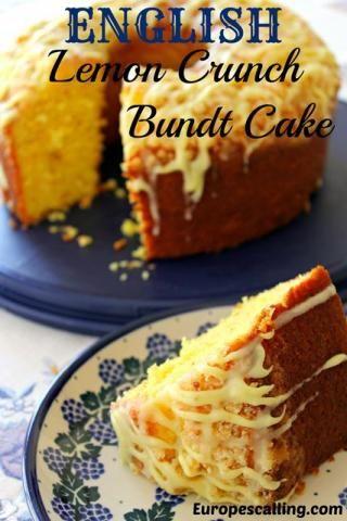 Lemon Crunch Bundt Cake Coffee Cake Bundt Cake Pinterest