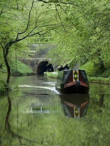 Narrow Boat Cruising the Llangollen Canal, England, United Kingdom, Europe Photographic Print by Richard Maschmeyer | Art.com