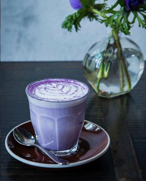 Image result for what is taro latte""