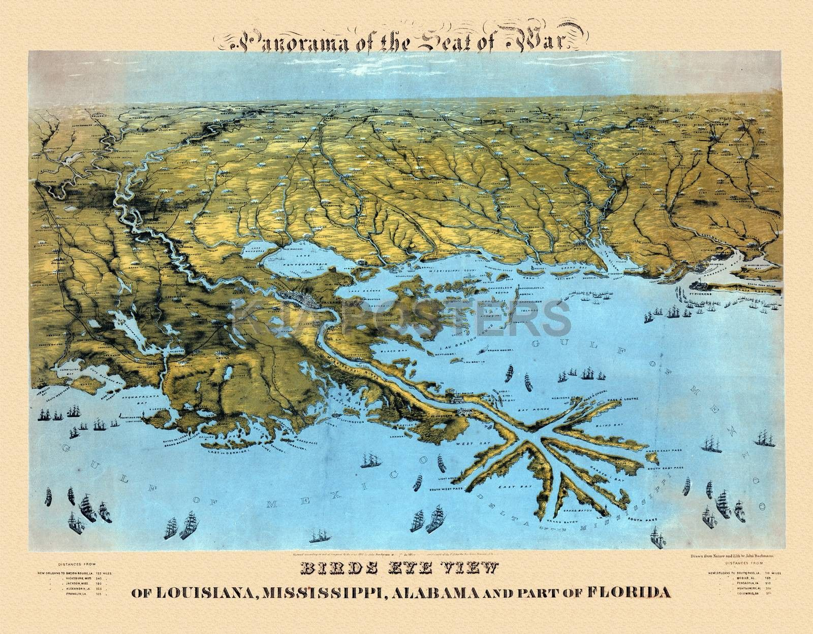 Civil war map louisiana mississippi alabama civil war pinterest civil war map louisiana mississippi alabama fandeluxe Images