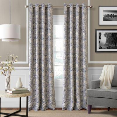 Julianne 95 Inch Blackout Grommet Top Window Curtain Panel In Blue