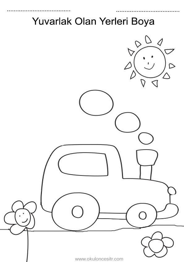 Daire çember Kavramı Boyama Lettering Education Ve Preschool