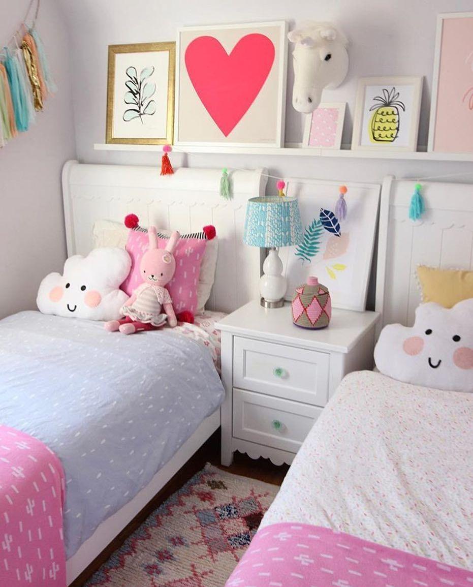 Shared Girls Bedroom, Twin Girl Bedrooms