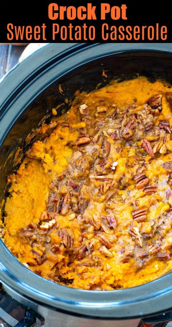 Crock Pot Sweet Potato Casserole #sweetpotatocasserole
