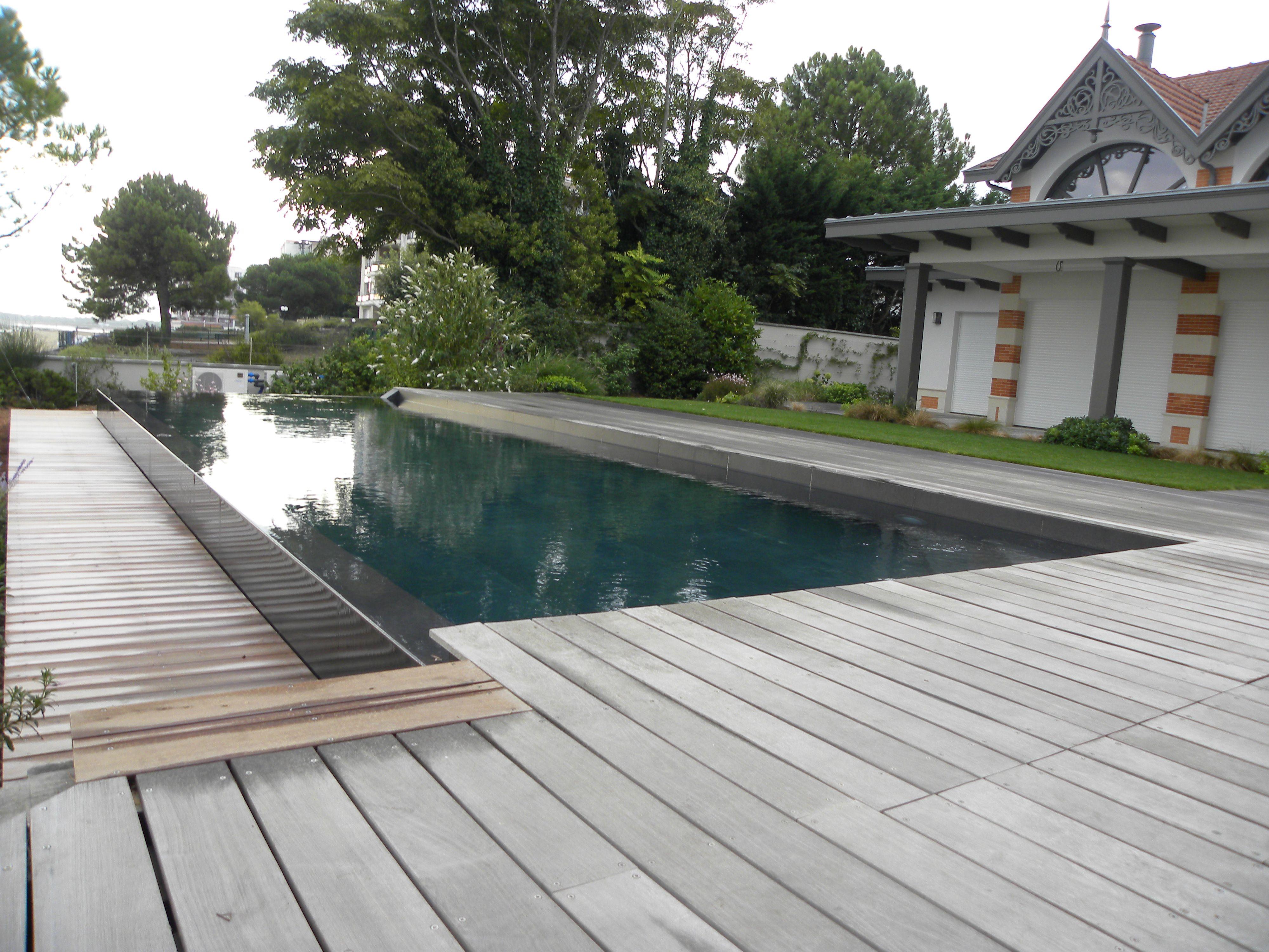 aménagement d'une terrasse et d'une piscine sur le bassin d'arcachon