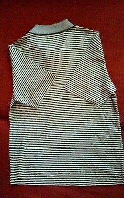 Men's Raffi Linea Uomo Black and White stripe Polo Shirt Medium