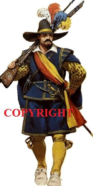 Early 17th century Polish musketeer