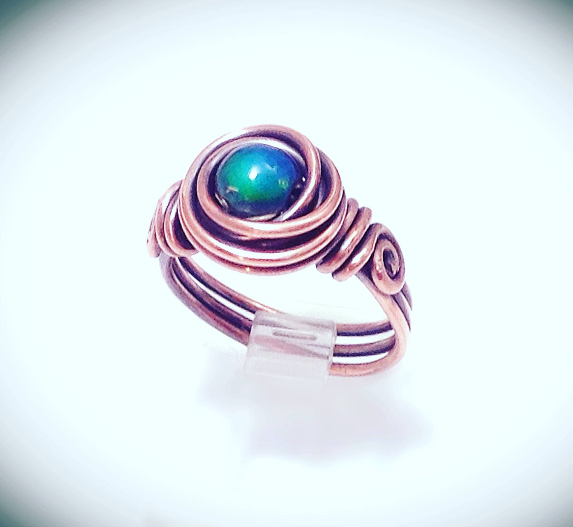 Wire ring. Mood ring. Wirewrapped jewelry. Copper wire mood ring ...