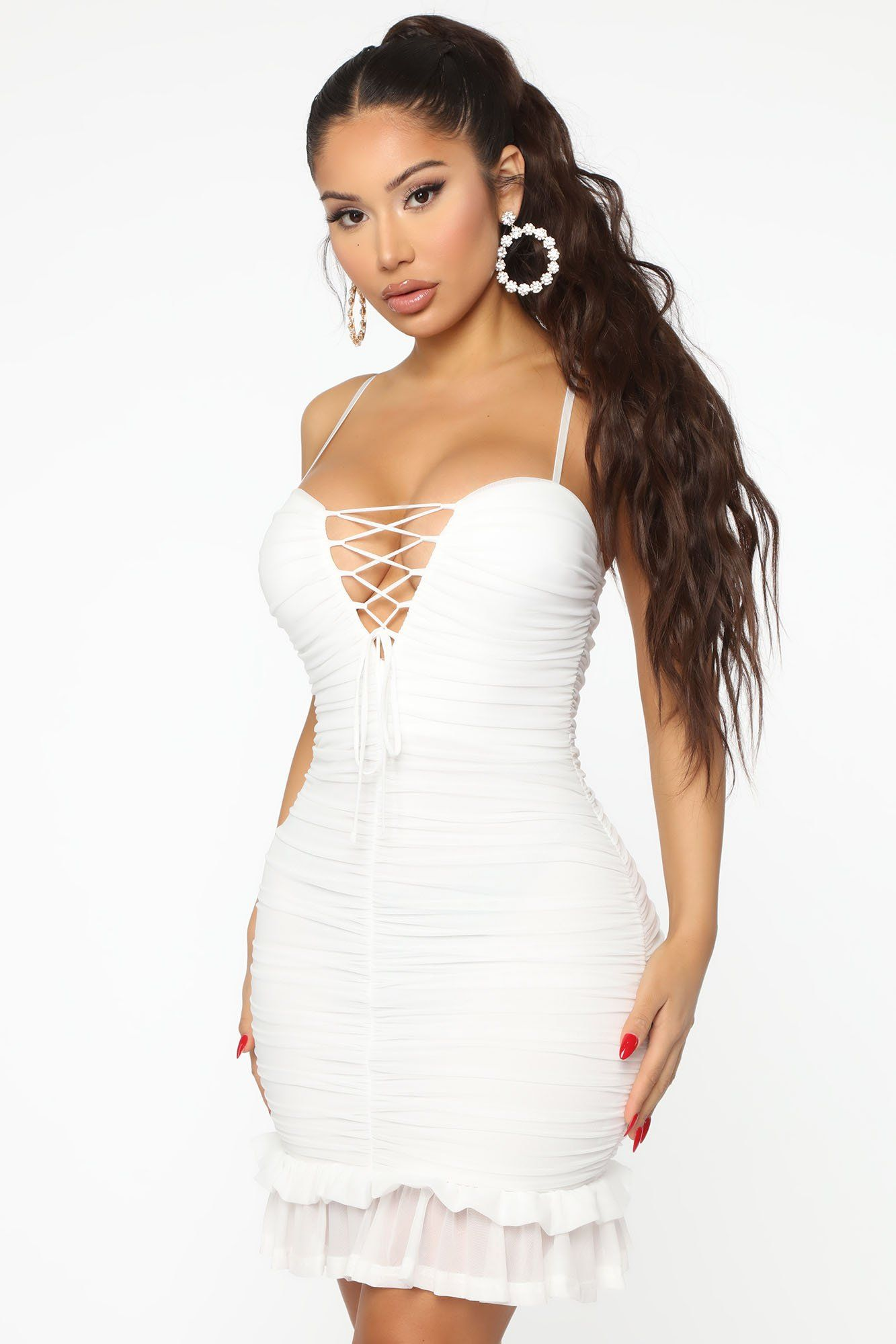 My Lover Ruched Mini Dress Ivory in 2020 (With images