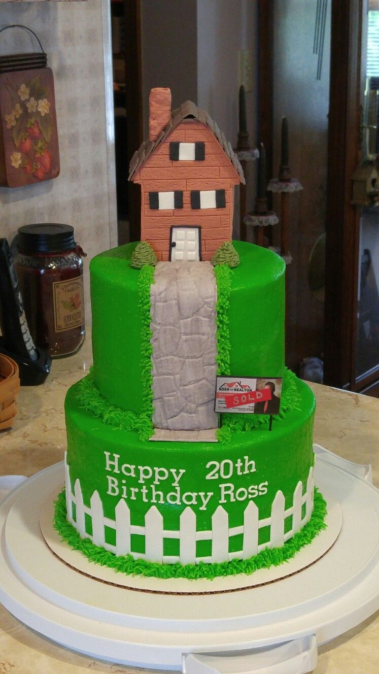 Birthday Cake For My Son A Real Estate Agent Cake Cake Decorating Happy 20th Birthday