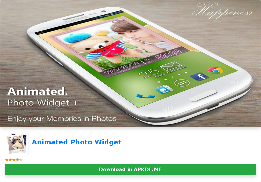 Animated Photo Widget Di 2020