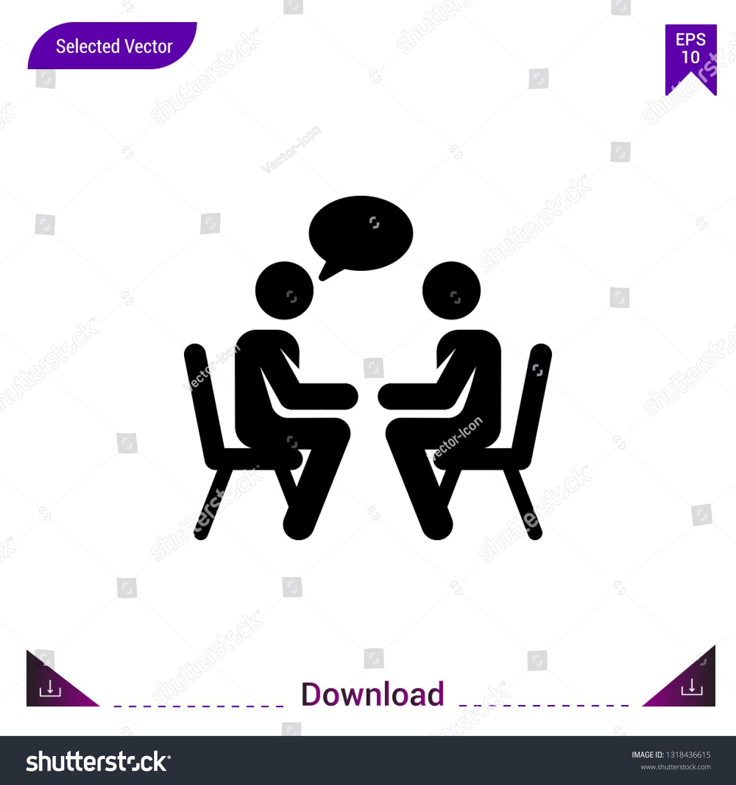 Black talking icon vector. Best modern , simple, isolated