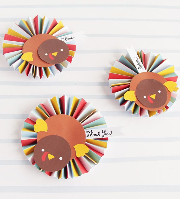 How to Make Cute Little Turkey Rosettes