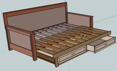 Pull Out Daybed Do It Yourself Furniture Excellent Detailed Instructions Diy Sofa Bed Diy Daybed Pull Out Daybed