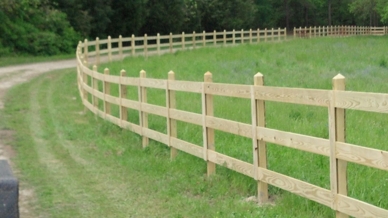 Rail wood fence elite fencing in