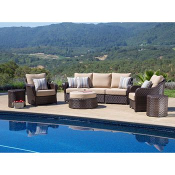 san marino 8 piece deep seating set by sirio screen porch ideas rh pinterest com