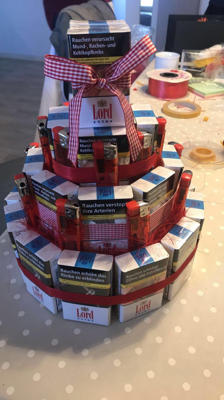 Zigarettentorte Als Geburtstagsgeschenk Geburtstag Geschenk