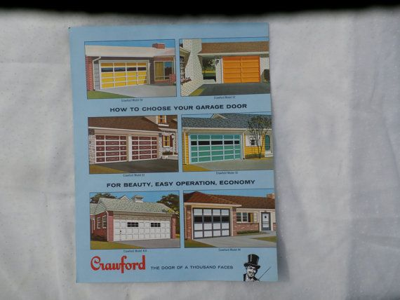Crawford Garage Doors 1960s Advertising Brochure Pinterest