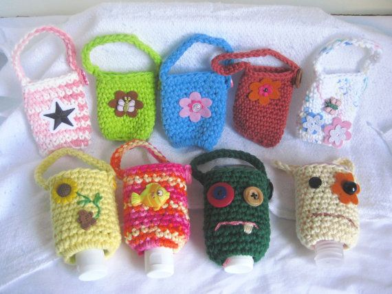 Take Along Crocheted Hand Sanitizer Cozy By Coastalgrannie On Etsy