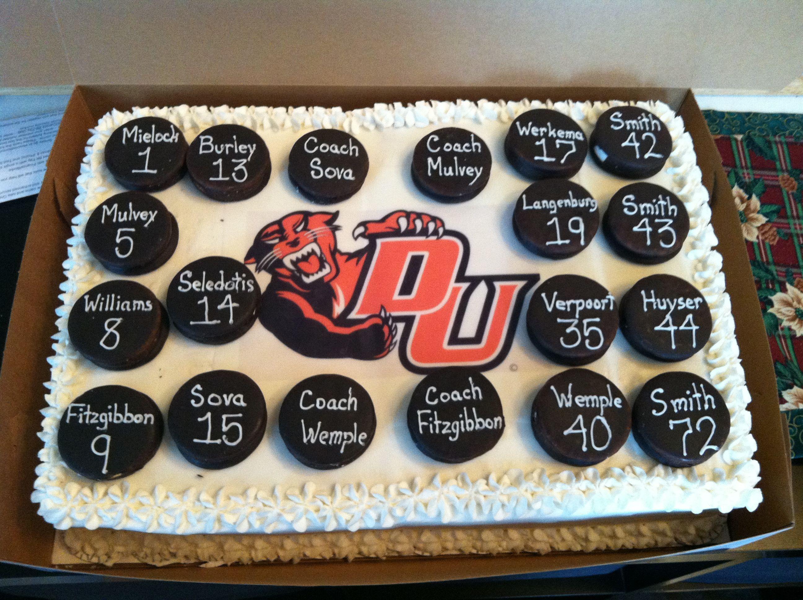 Hockey Cake 2 Cupcake Birthday Cake Hockey Cakes Cupcake Cakes
