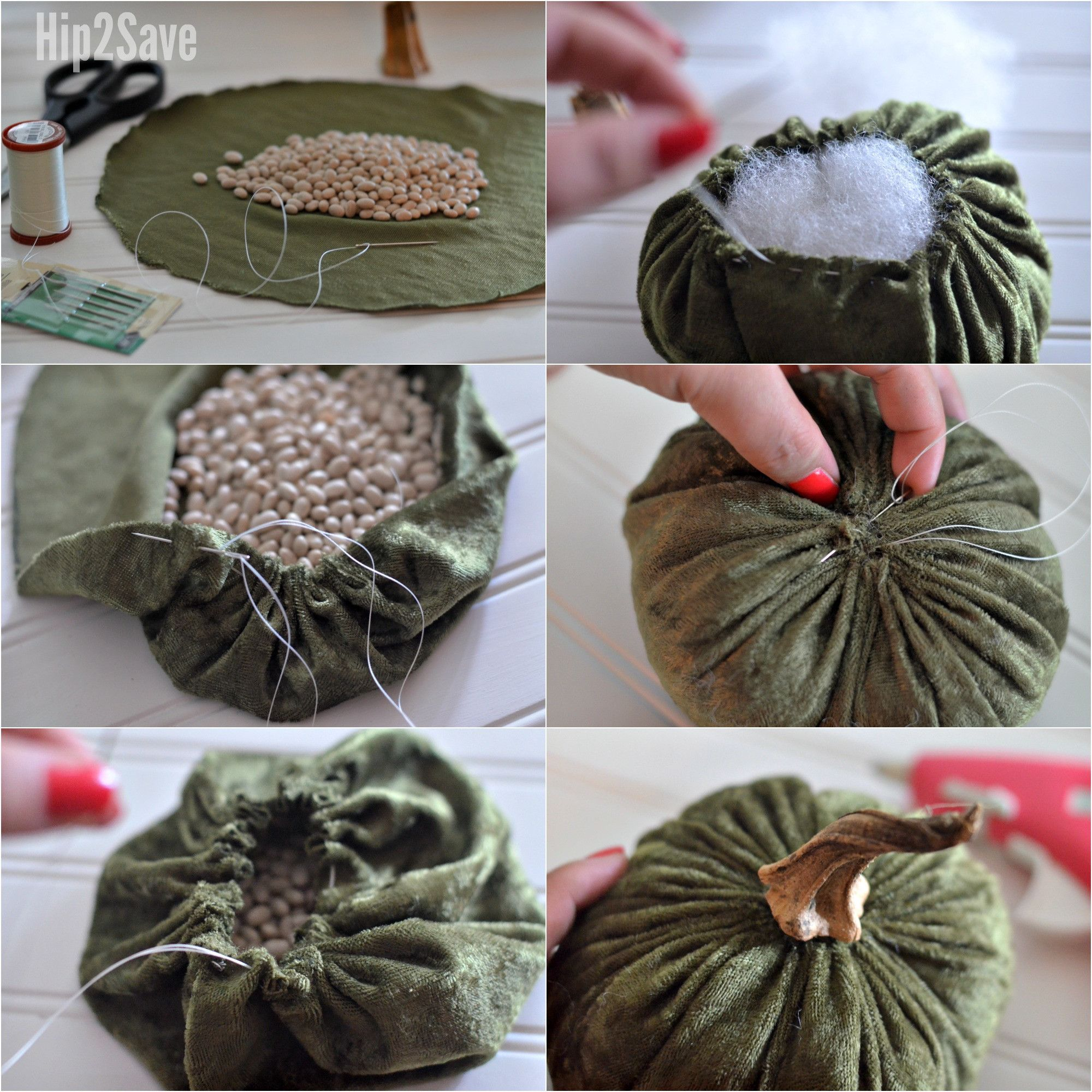 DIY Plush Velvet Pumpkins (Festive Fall Decorating Idea) - Hip2Save