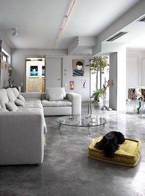 pisos de concreto sala de estar Tipos De Pisos Qual Escolher Do Porcelanato Ao Mrmore