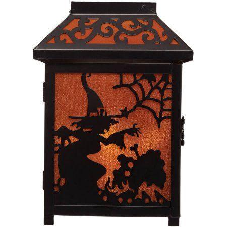 9 inch Witch Lantern Halloween Decoration, Orange Witches - halloween decorations at walmart