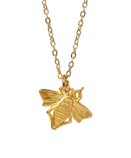 Luxe Matte Gold Bee #Pendant #Necklace.
