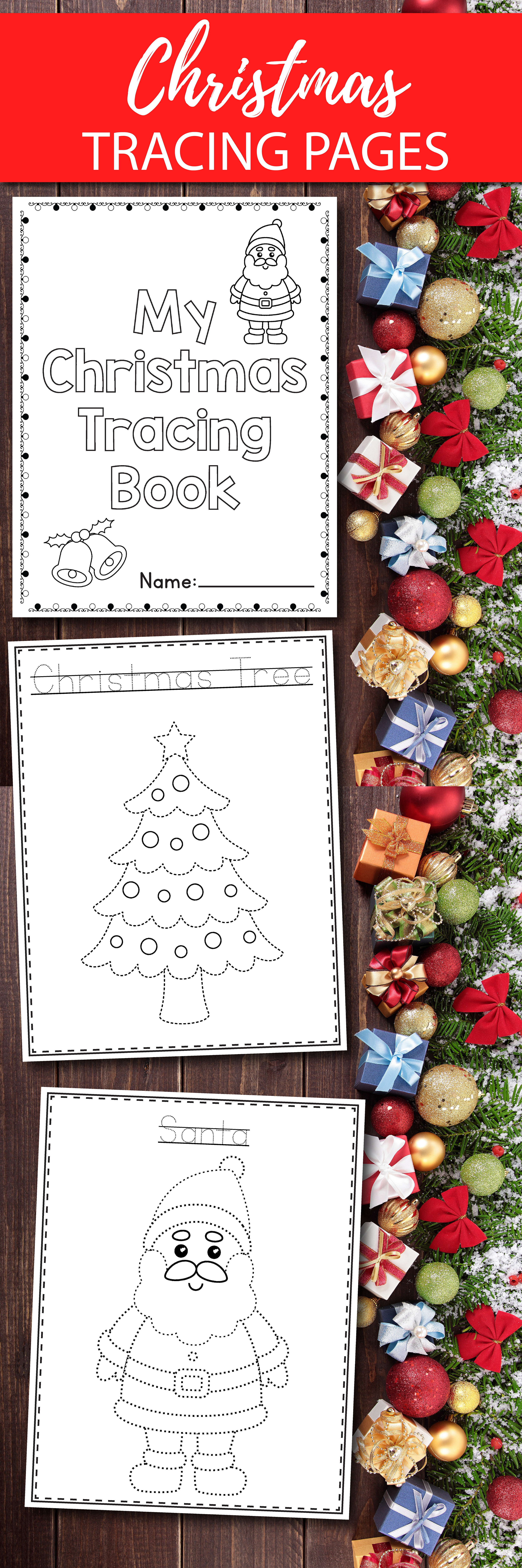 Christmas Tracing For Preschool