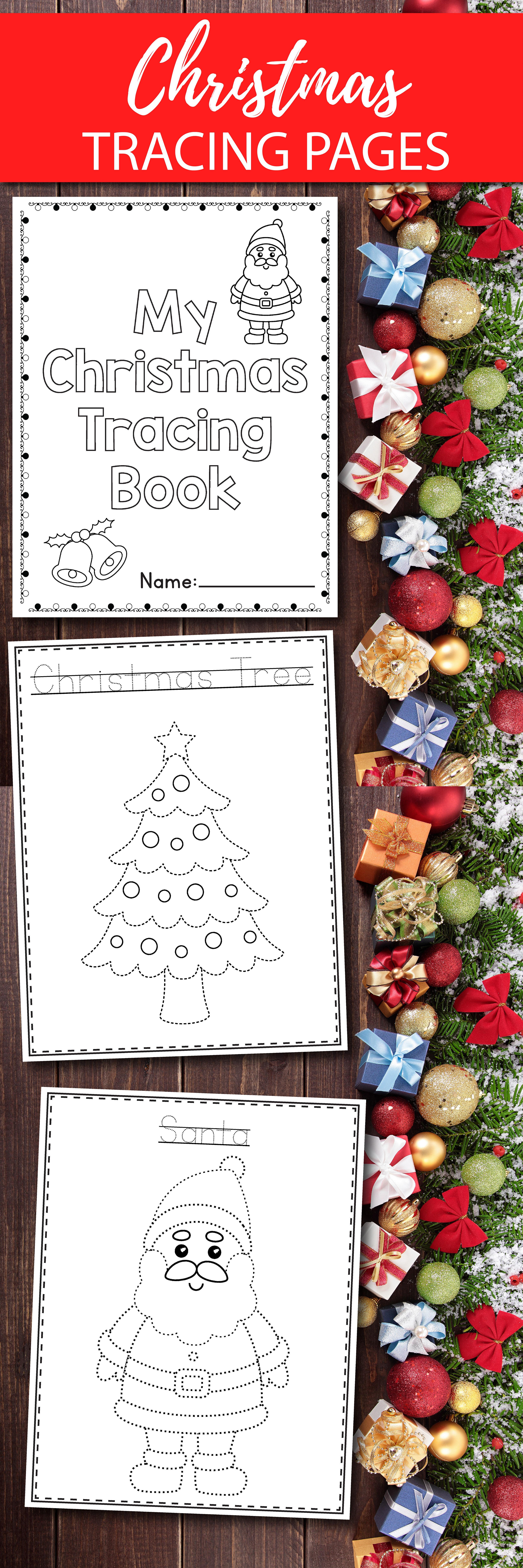 Christmas Tracing For Preschool