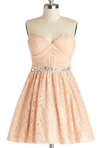 The combination of bustier top, jeweled waistline, and lace skirt makes this dress a triple-pink knockout. 15 Dreamy Pink Items Under $100