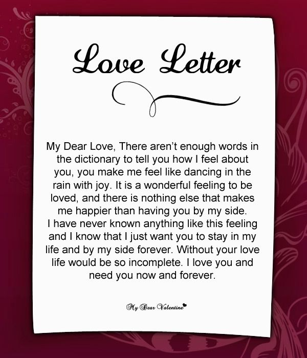 Love Letter For Her #37 | Love Letters for Her | Love letter to