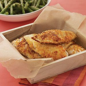 Panko pan fried fish strips myplate for Fried fish with bread crumbs
