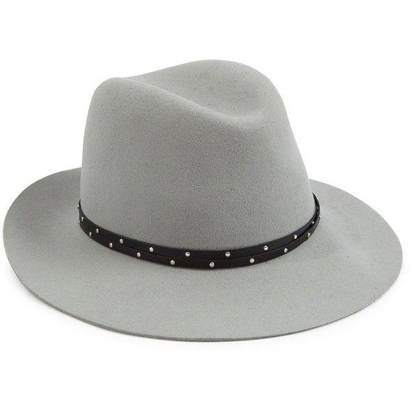 e9b5c663c31 Rag   Bone Melange Wool Felt   Leather Fedora (€215) ❤ liked on ...