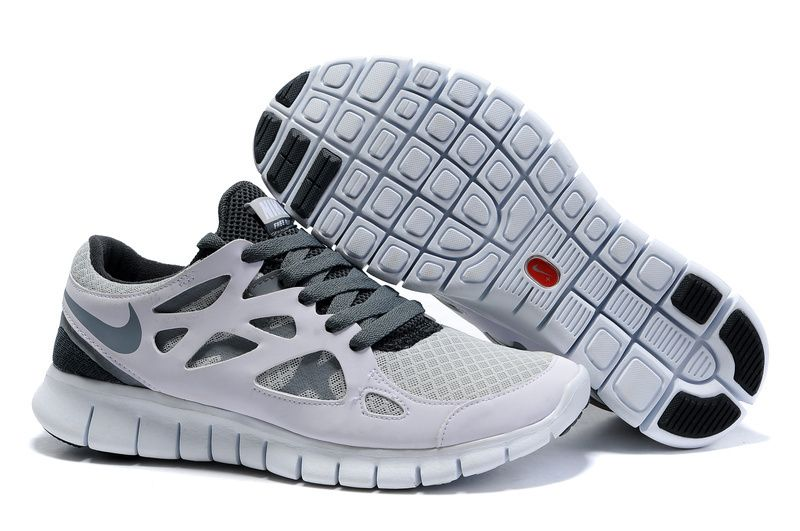 2f145aaece1 White Cool Grey Wolf Grey Nike Free Run 2 Men s Running Shoes cheap nike  shoes