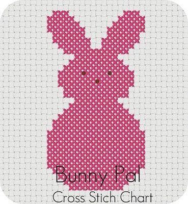 bunny pal cross stitch chart.