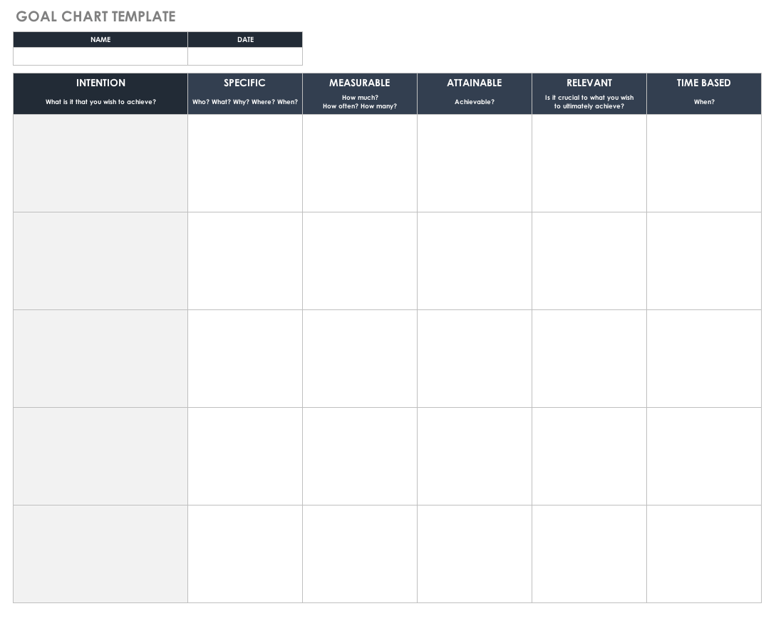 Goal Chart Template