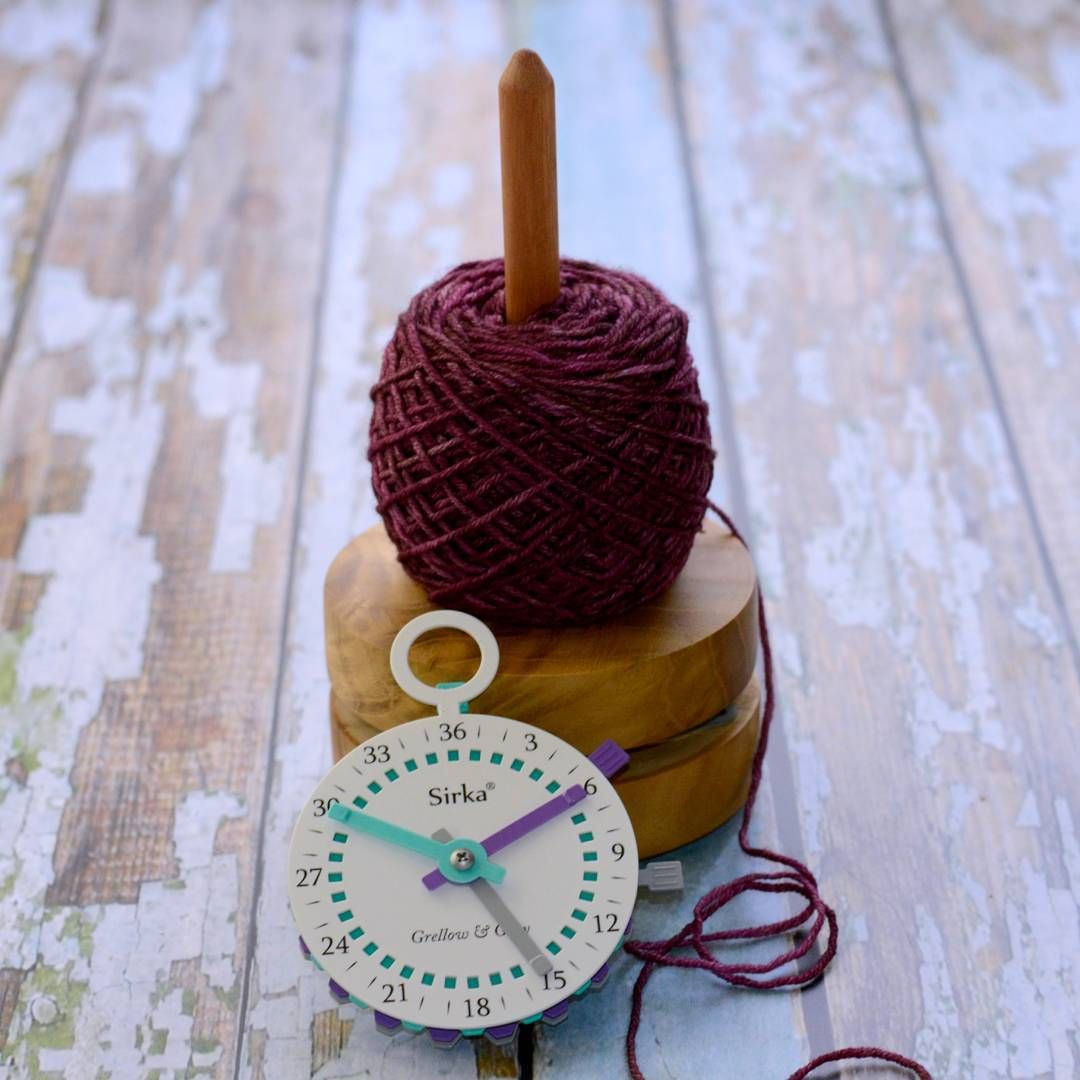 Luxury Knitting Tools: Yarn Buddy from Sun Valley Fibers and Sirka Counter from Grellow and Grey