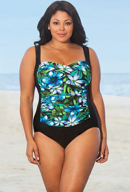 98fc92bee7a75 Delta Burke Blue Kokimo Twist Front Swimsuit
