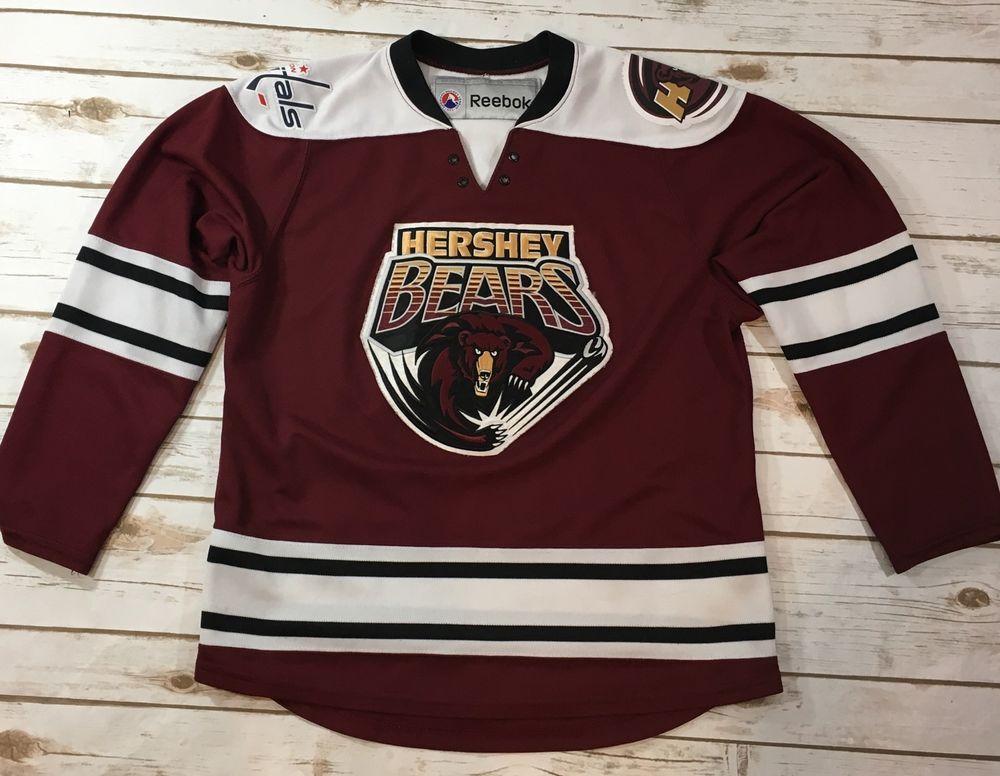 9f84a96c763e7 Reebok Hershey Bears Minor League Hockey Jersey Youth Size ...