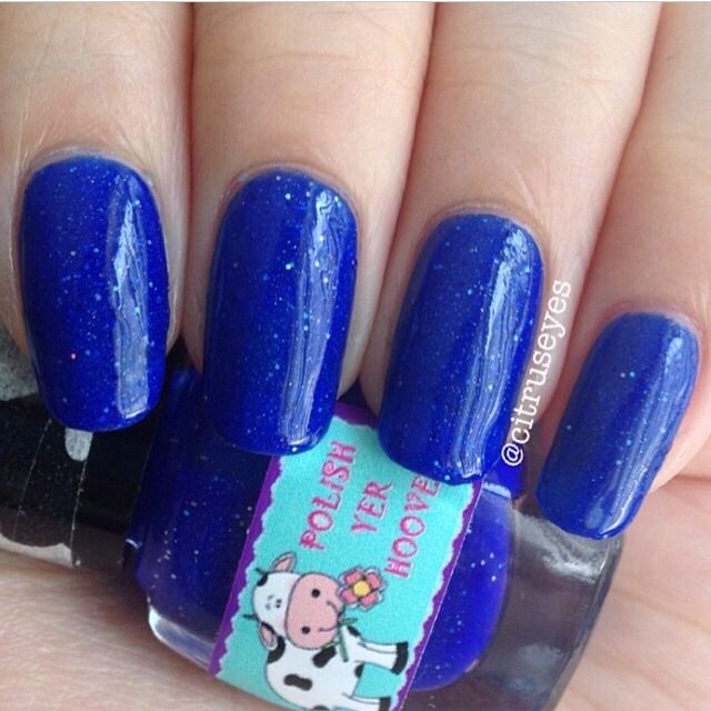 Swatch of Midnight from Polish Yer Hooves (Indie brand)