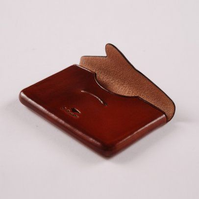 Il bussetto business card holder envelope light brown leather il bussetto business card holder envelope light brown reheart