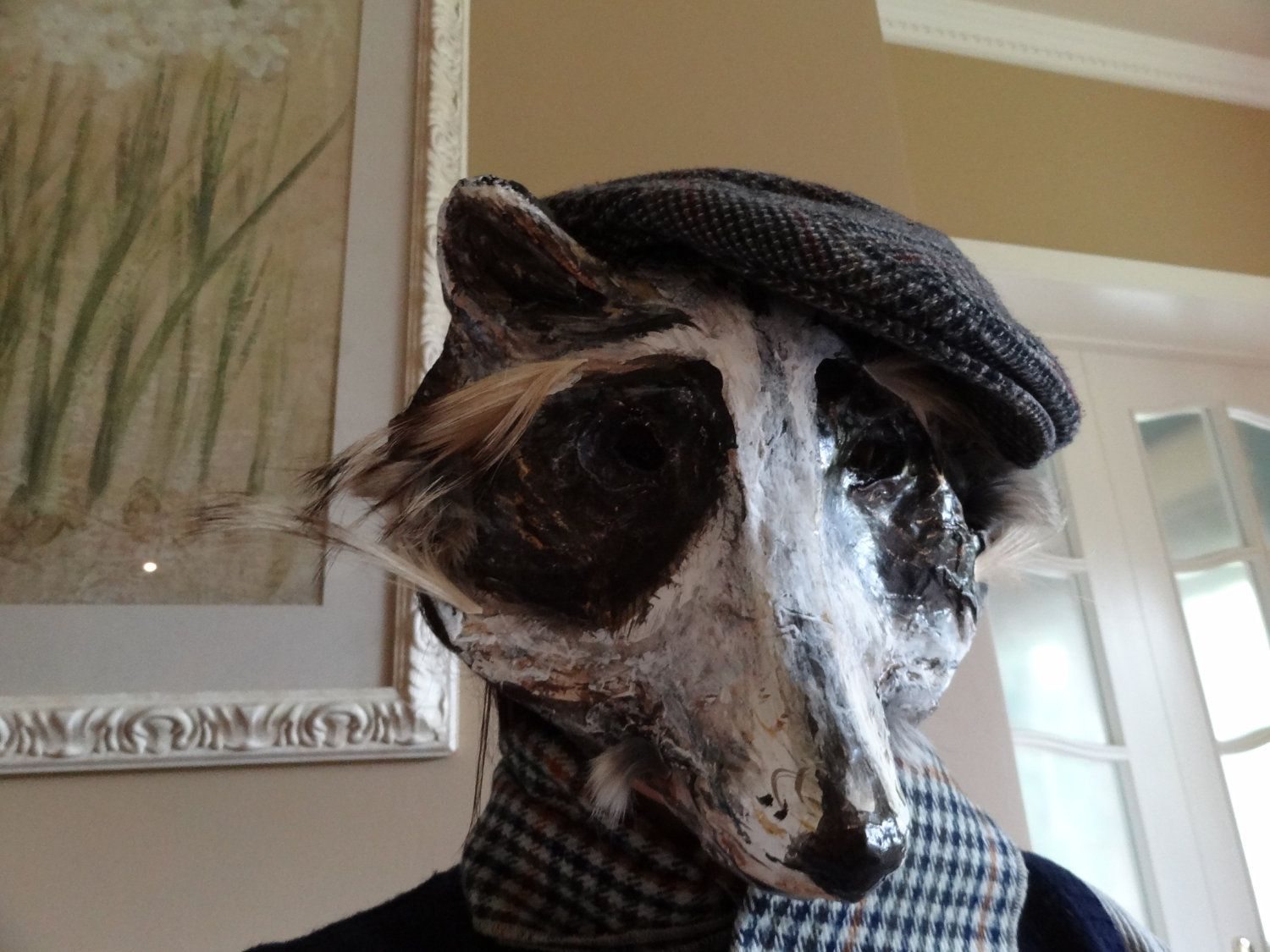 Englishman in New York Paper mache Raccoon Mask Halloween mask ...