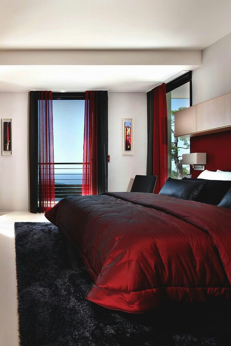 Pin by Marlen avinnia on home | Red bedroom decor, Red ...