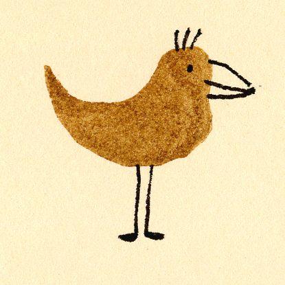 a Stamp a Day: brown bird