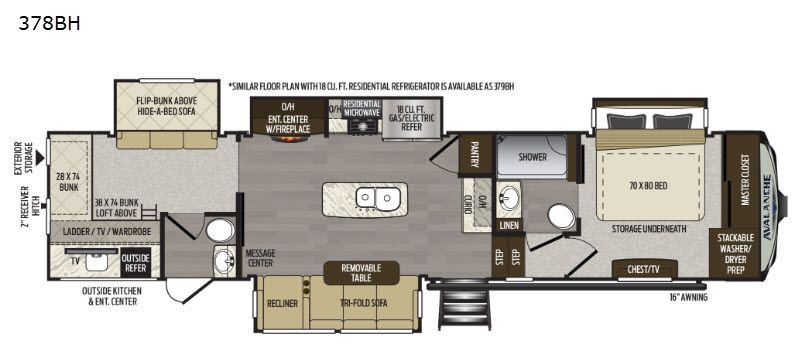 New 2019 Keystone Rv Avalanche 378bh Fifth Wheel At Modern Trailer