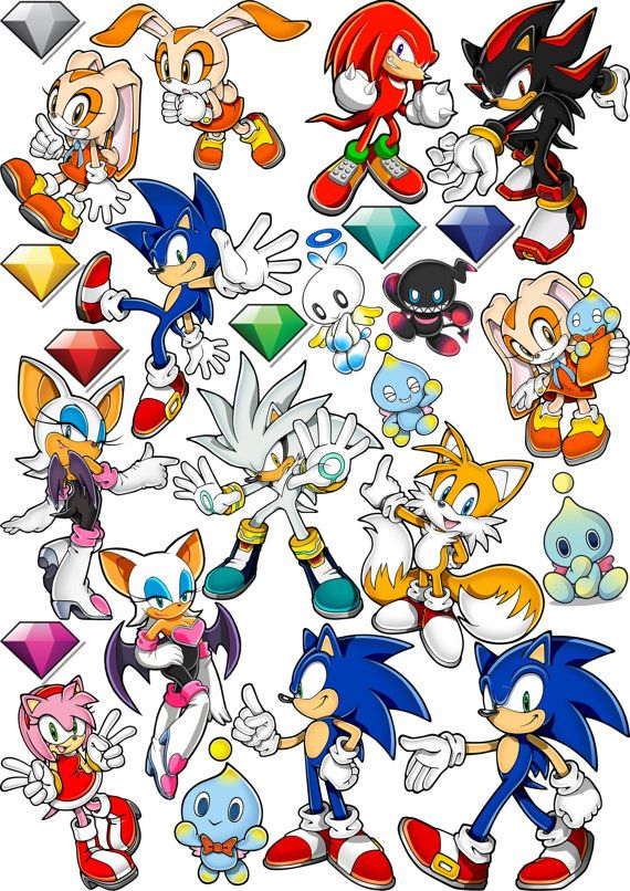 Sonic The Hedgehog Sticker Pack Send Us A Message If You Want To Pin On Our   Part 58